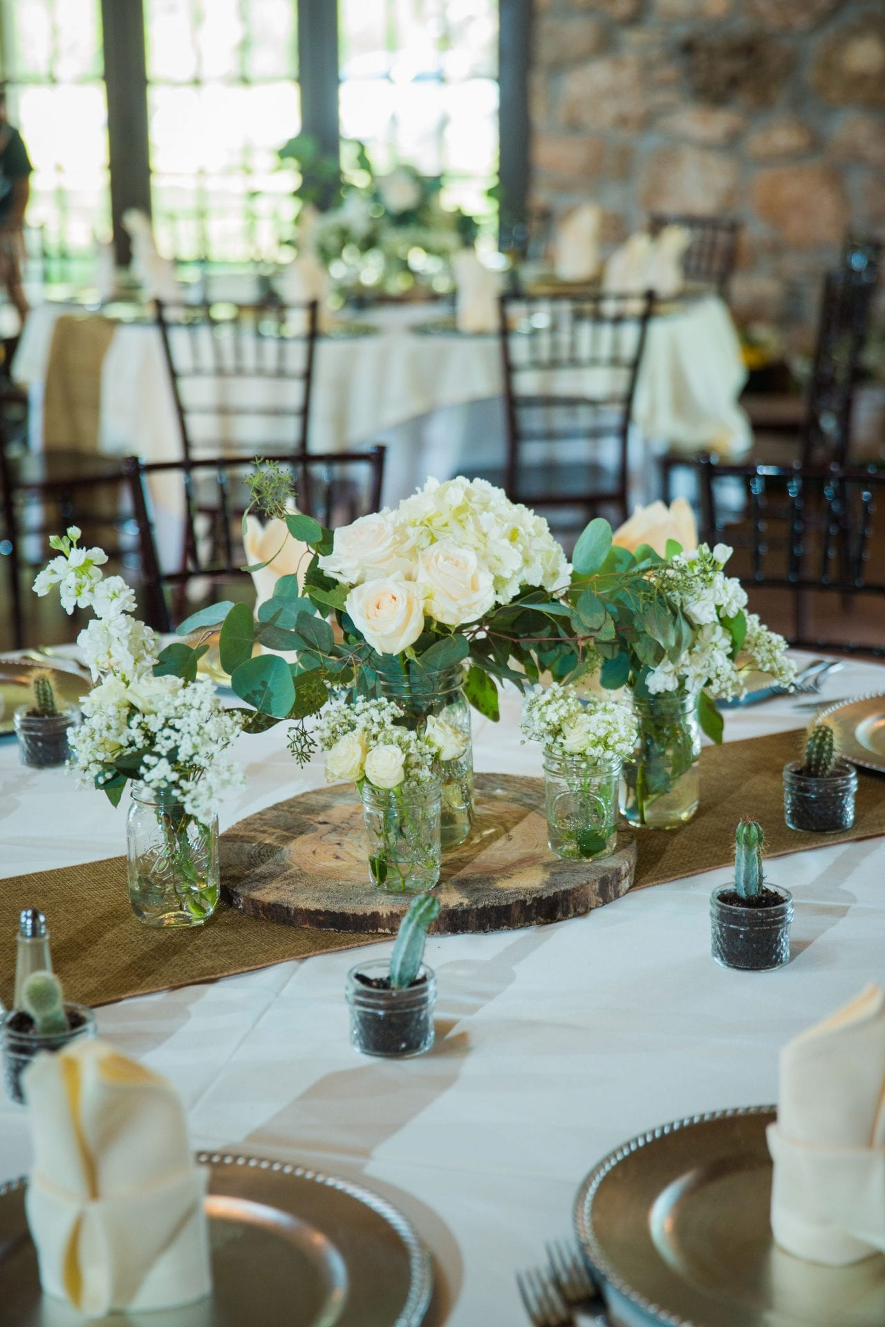 Aamber wedding Canyon Springs Golf Course centerpiece