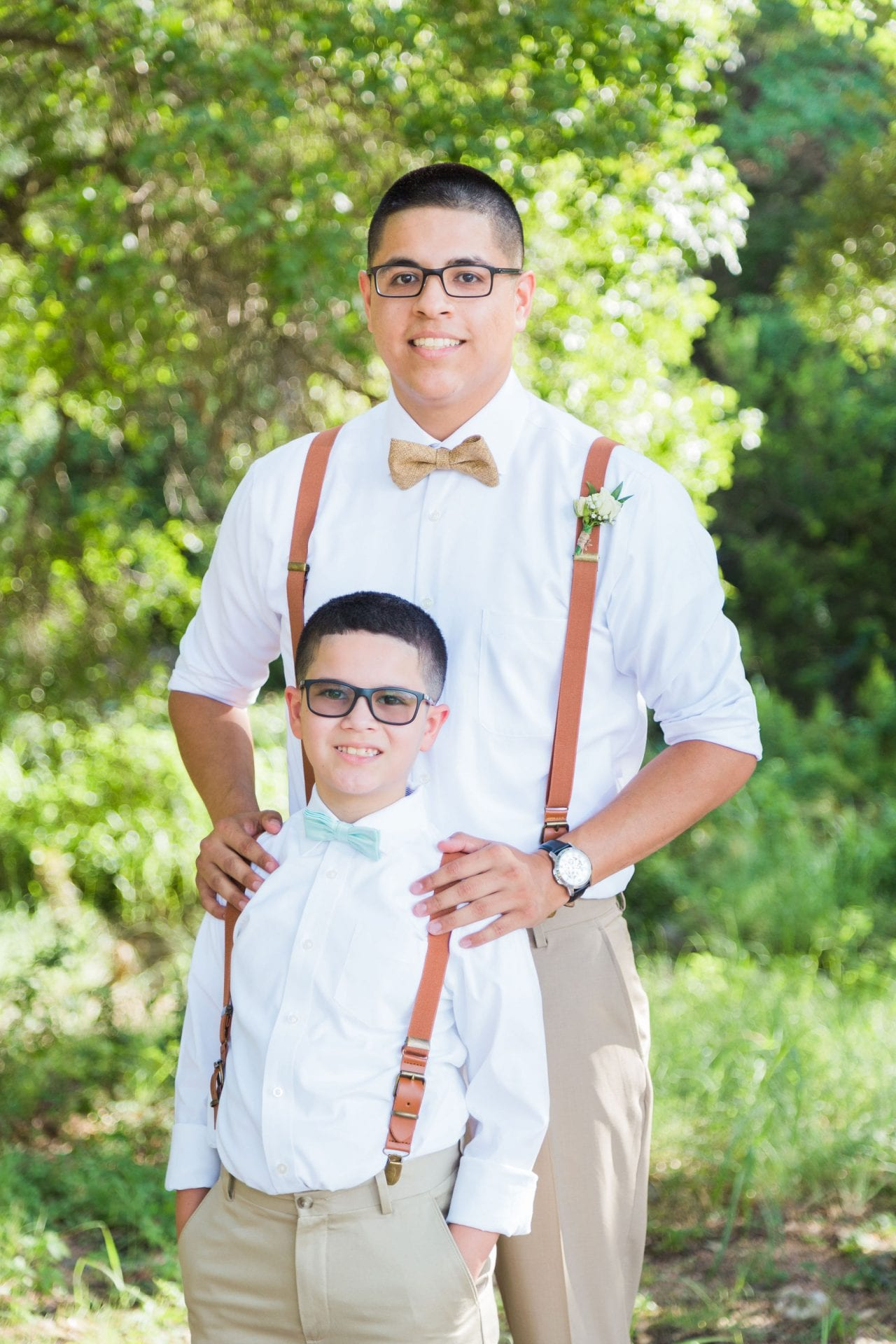 Aamber wedding Canyon Springs Golf Course the groom and son