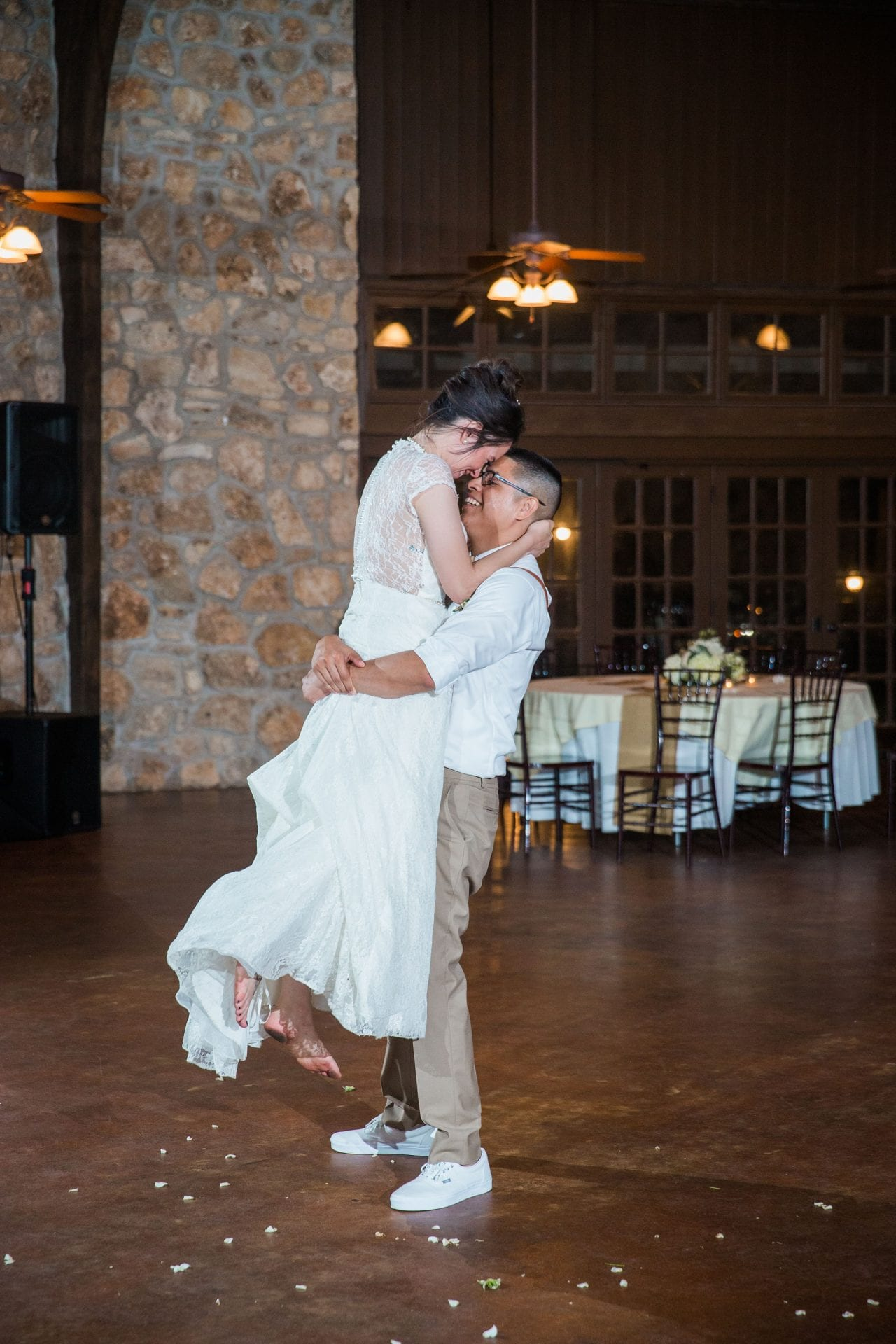 Aamber wedding Canyon Springs Golf Course couple dance lift