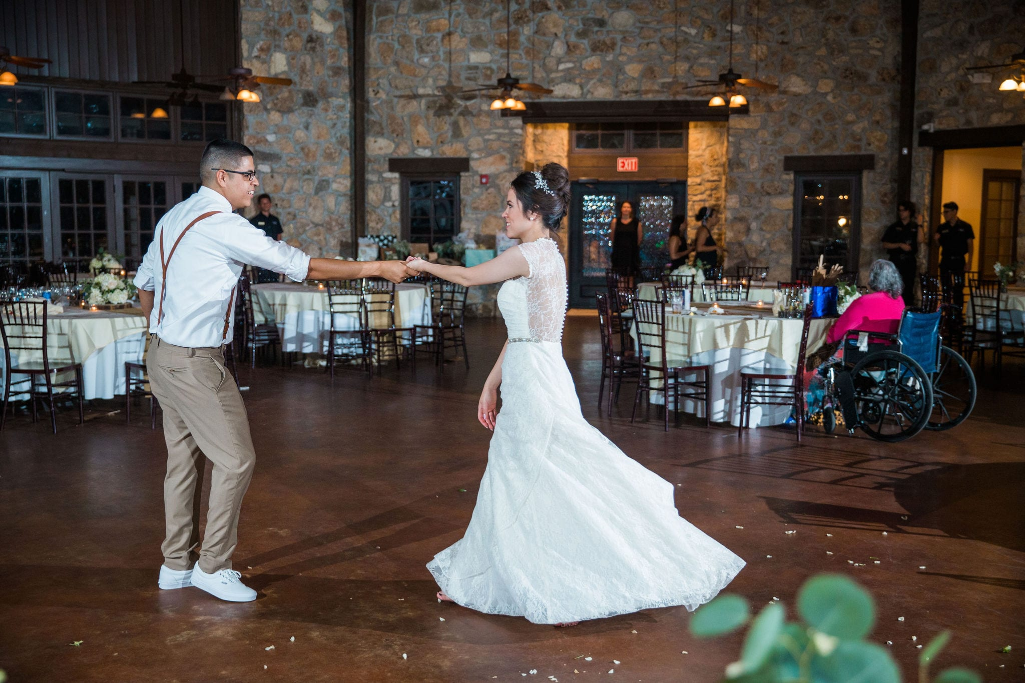 Aamber wedding Canyon Springs Golf Course couple last dance