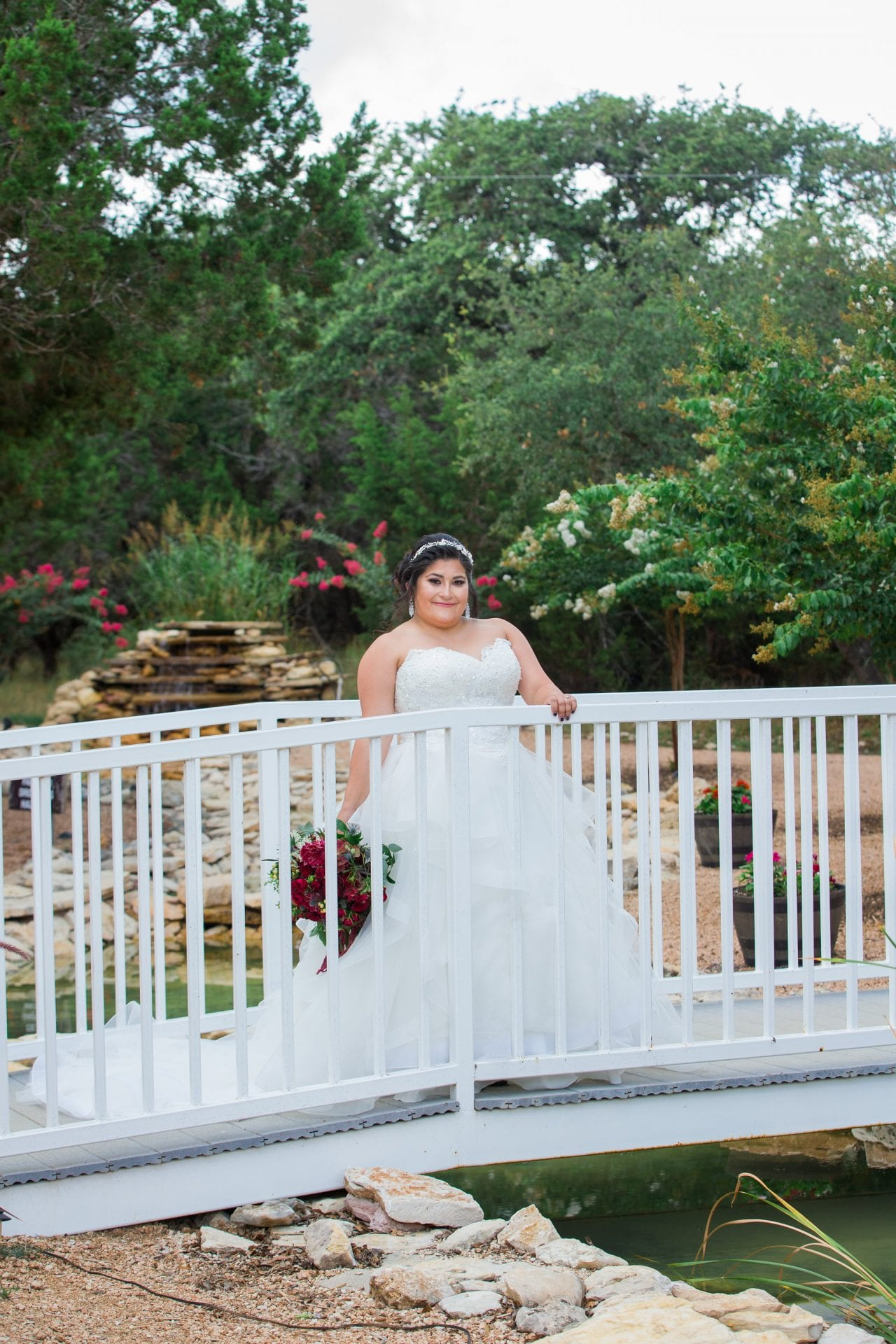 Laura's Bridals at Western Sky on the bridge