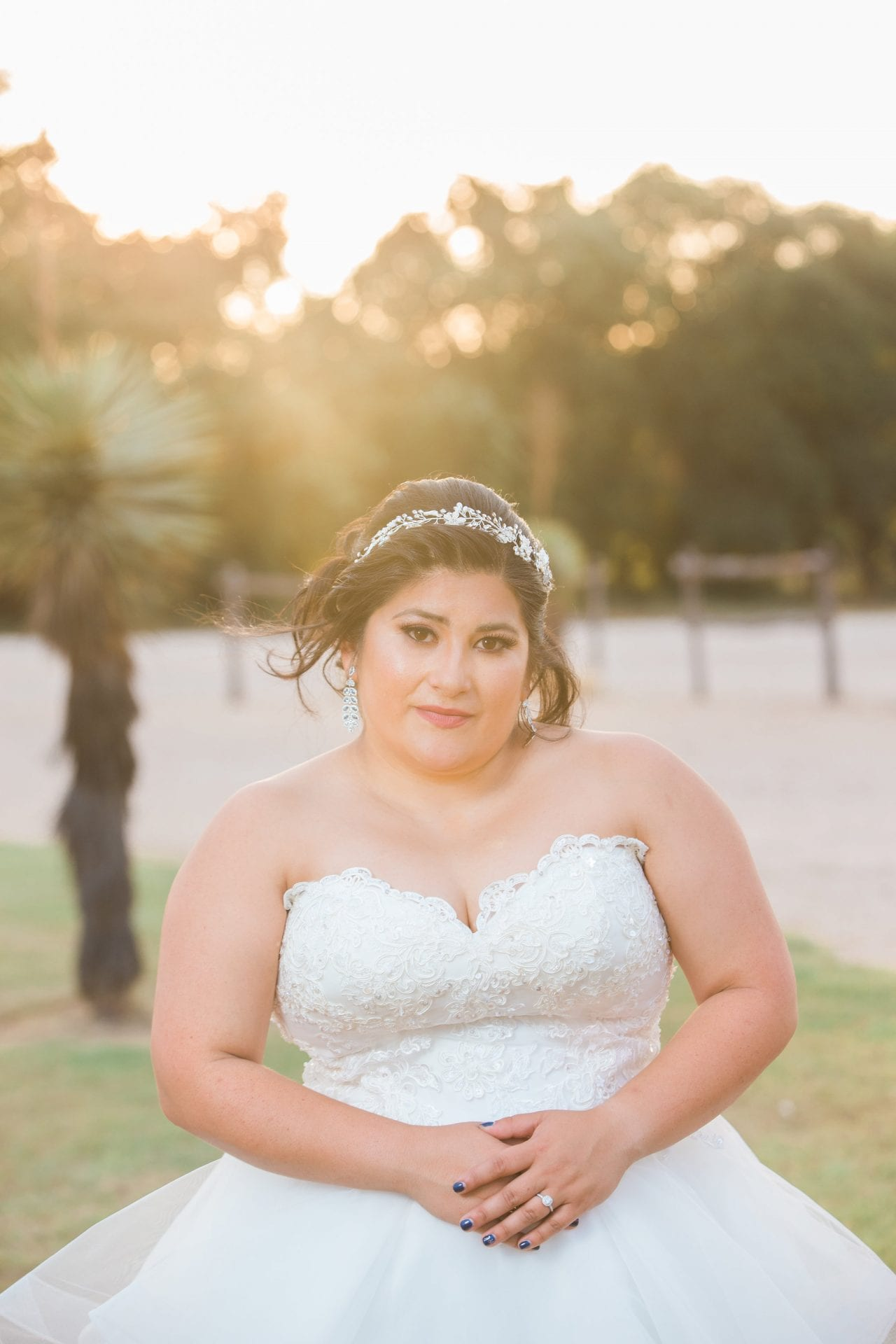 Laura's Bridals at Western Sky in the sun