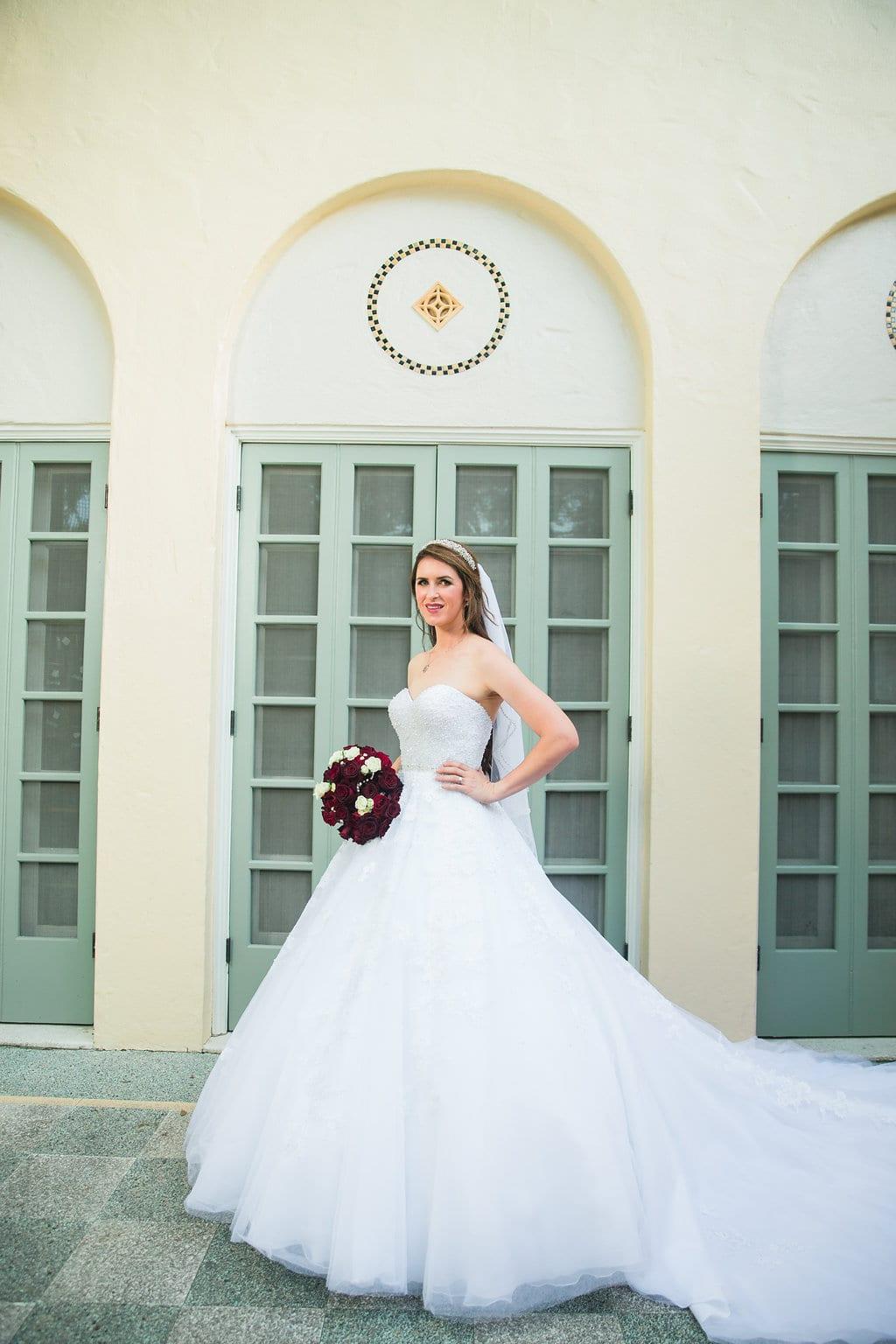 Laura's bridal at Landa Library large window