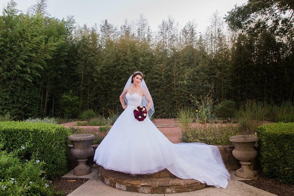 Laura's bridal at Landa Library garden brides drama