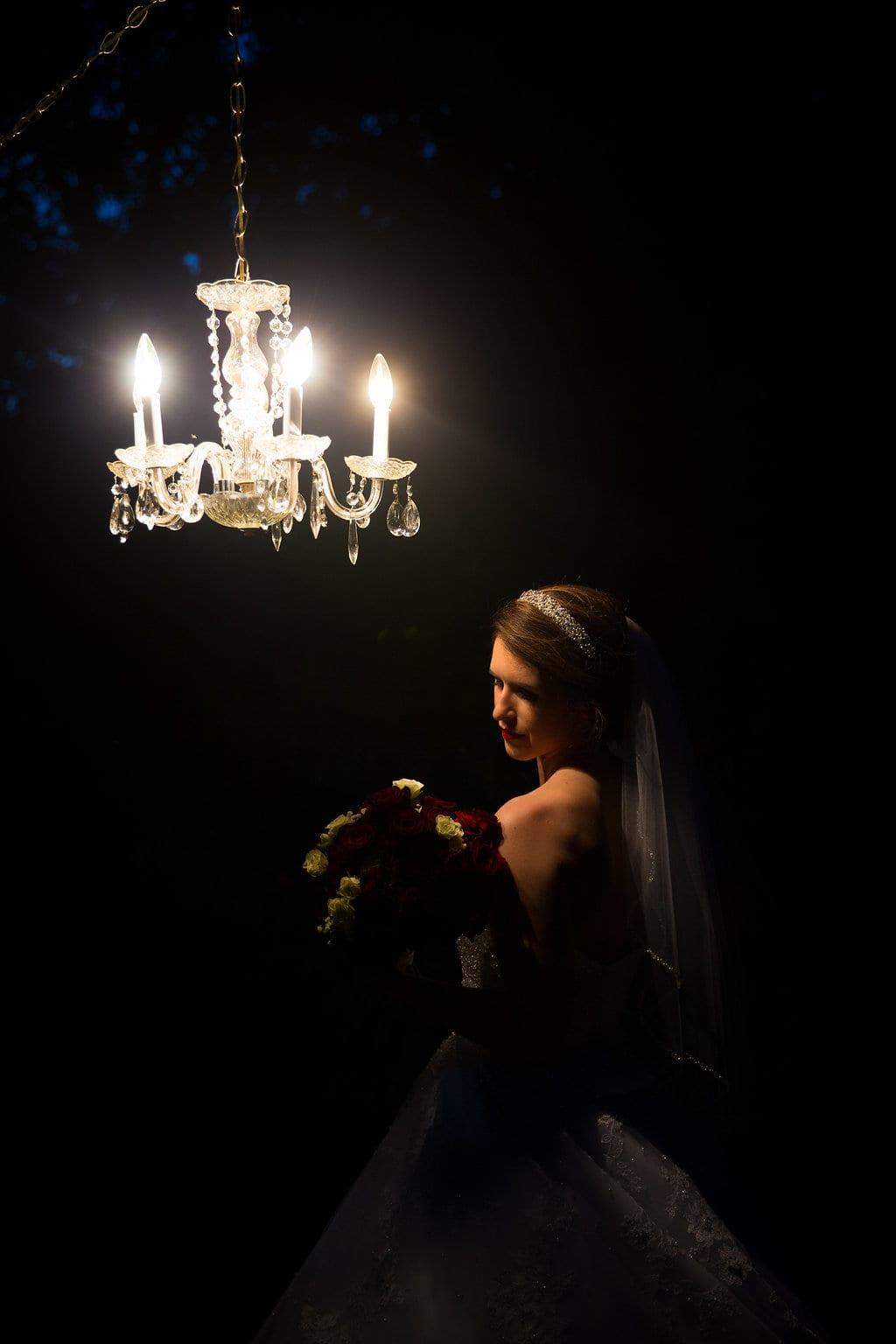 Laura's bridal at Landa Library bride at night prayer