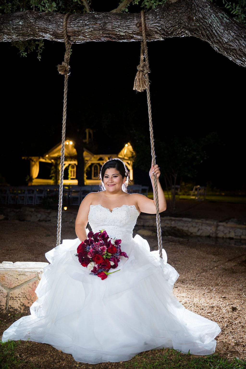 Laura wedding Western Sky swing