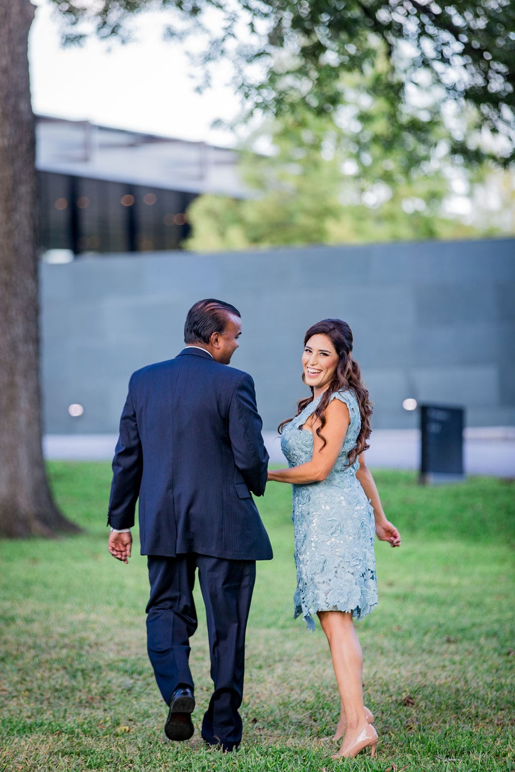 Mary Elizabeth's engagement at the McNay walking