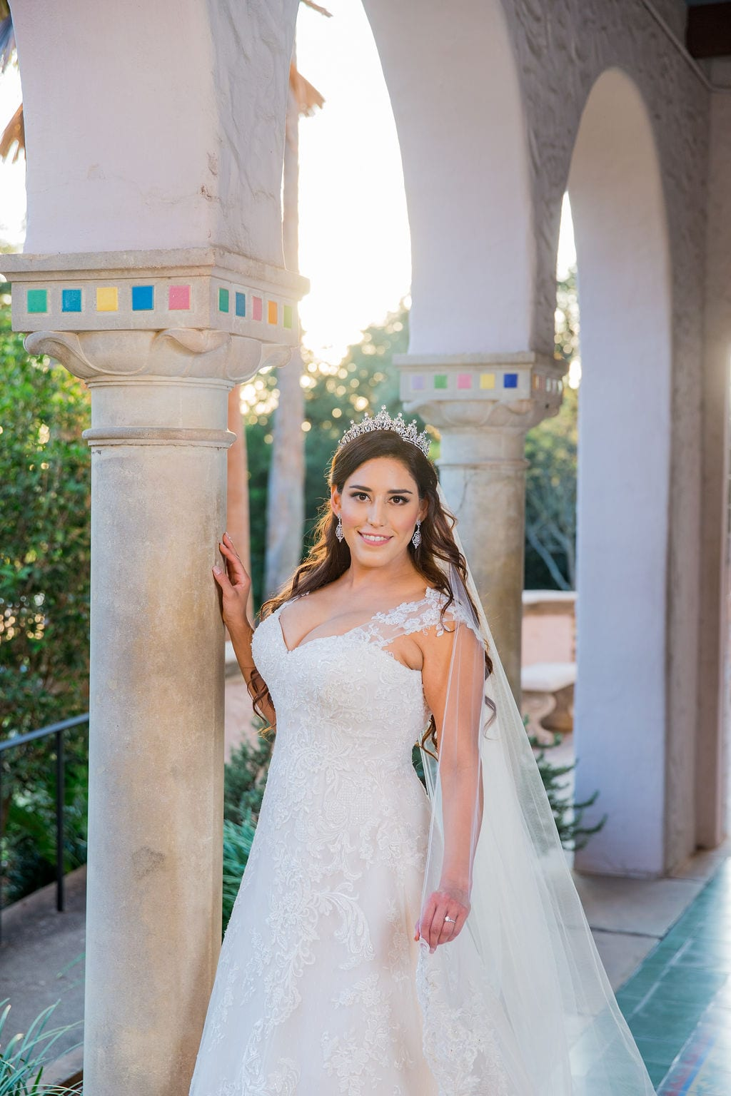 Mary Elizabeth's bridal at the McNay in the arches headshot