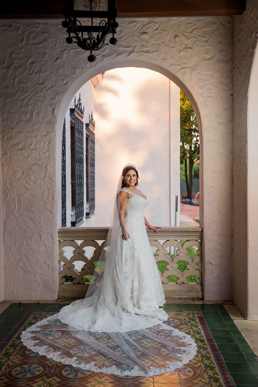 Mary Elizabeth's bridal at the McNay windowed bride