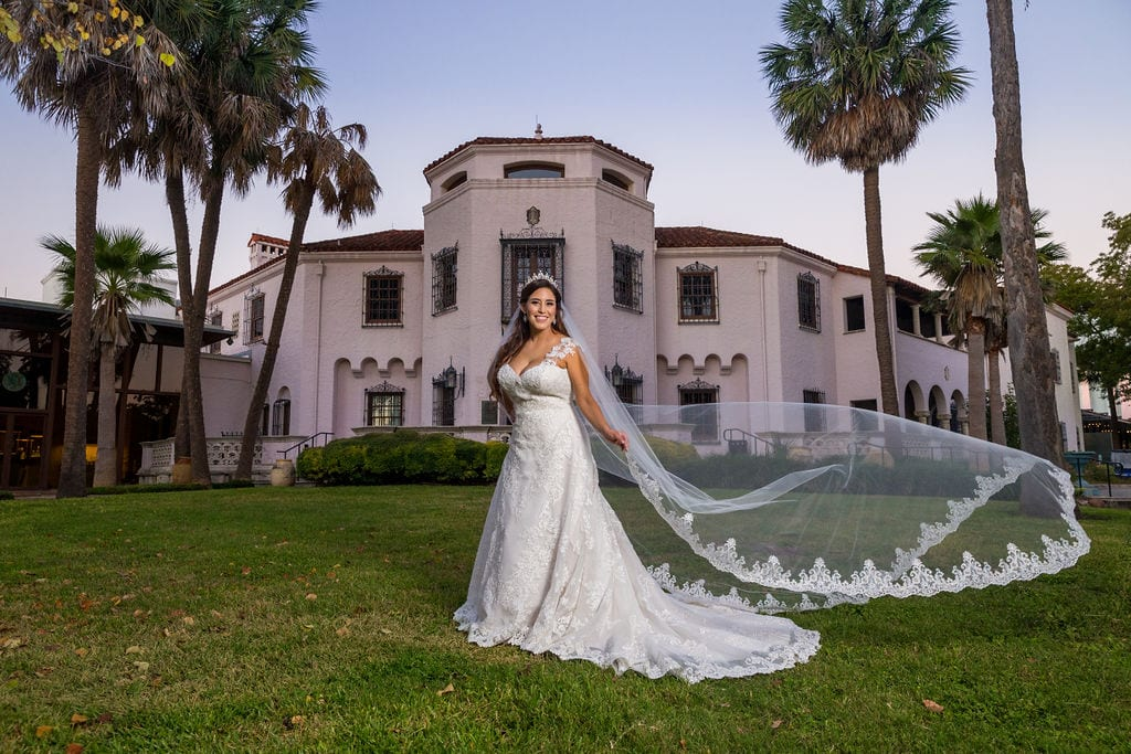 Mary Elizabeth's bridal at the McNay front of museum