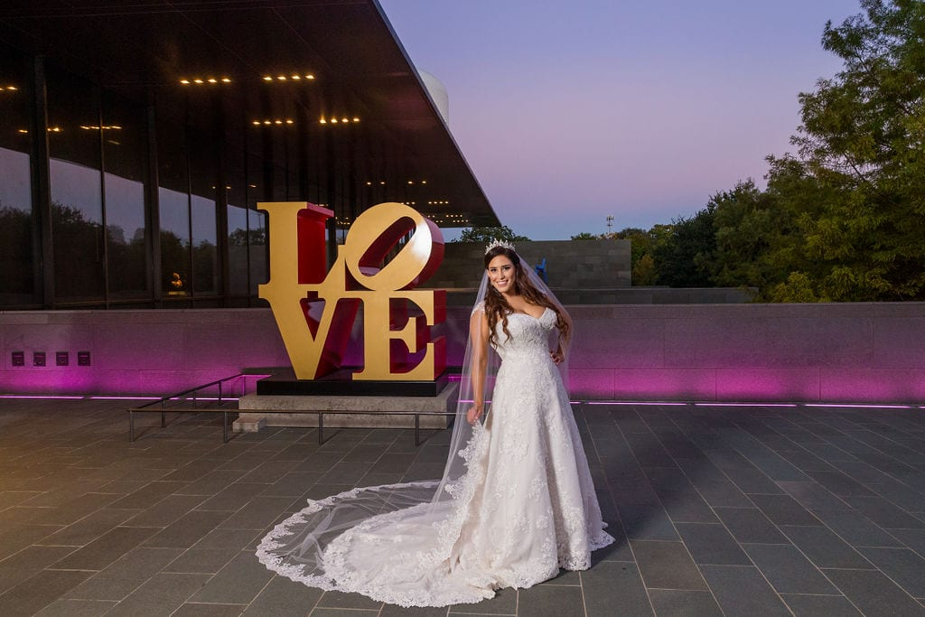 Mary Elizabeth's bridal at the McNay LOVE Letters