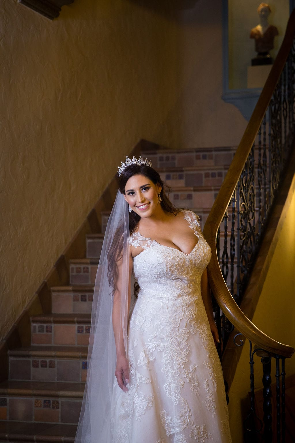 Mary Elizabeth's bridal at the McNay headshot inside stair