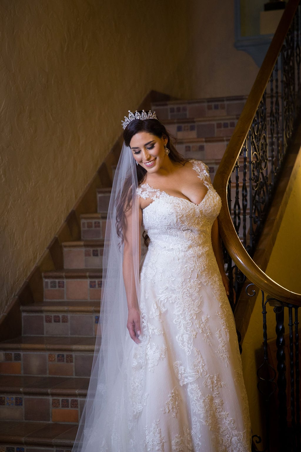Mary Elizabeth's bridal at the McNay headshot inside stair looking down