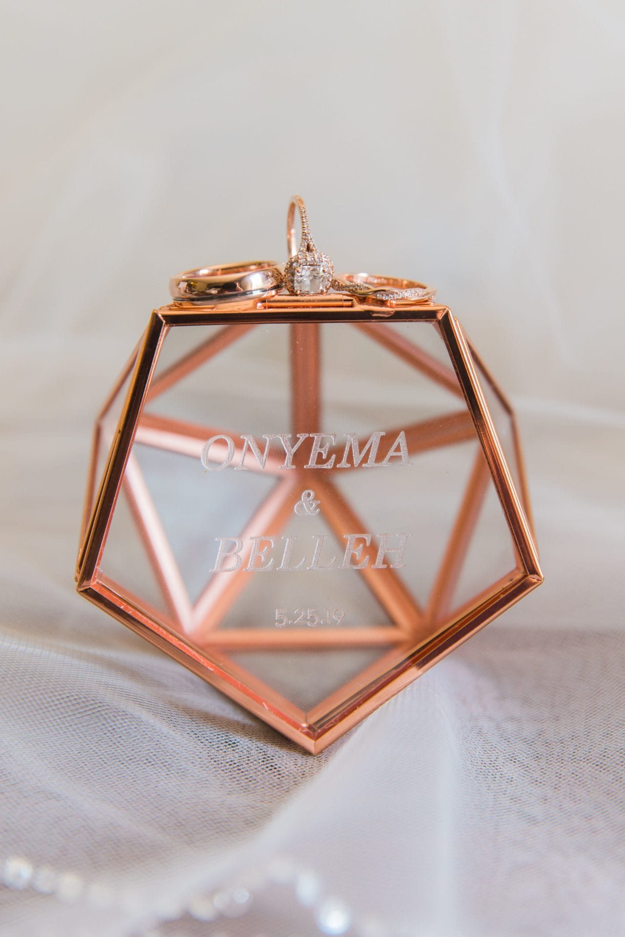 Onyema wedding La Cantera ring box