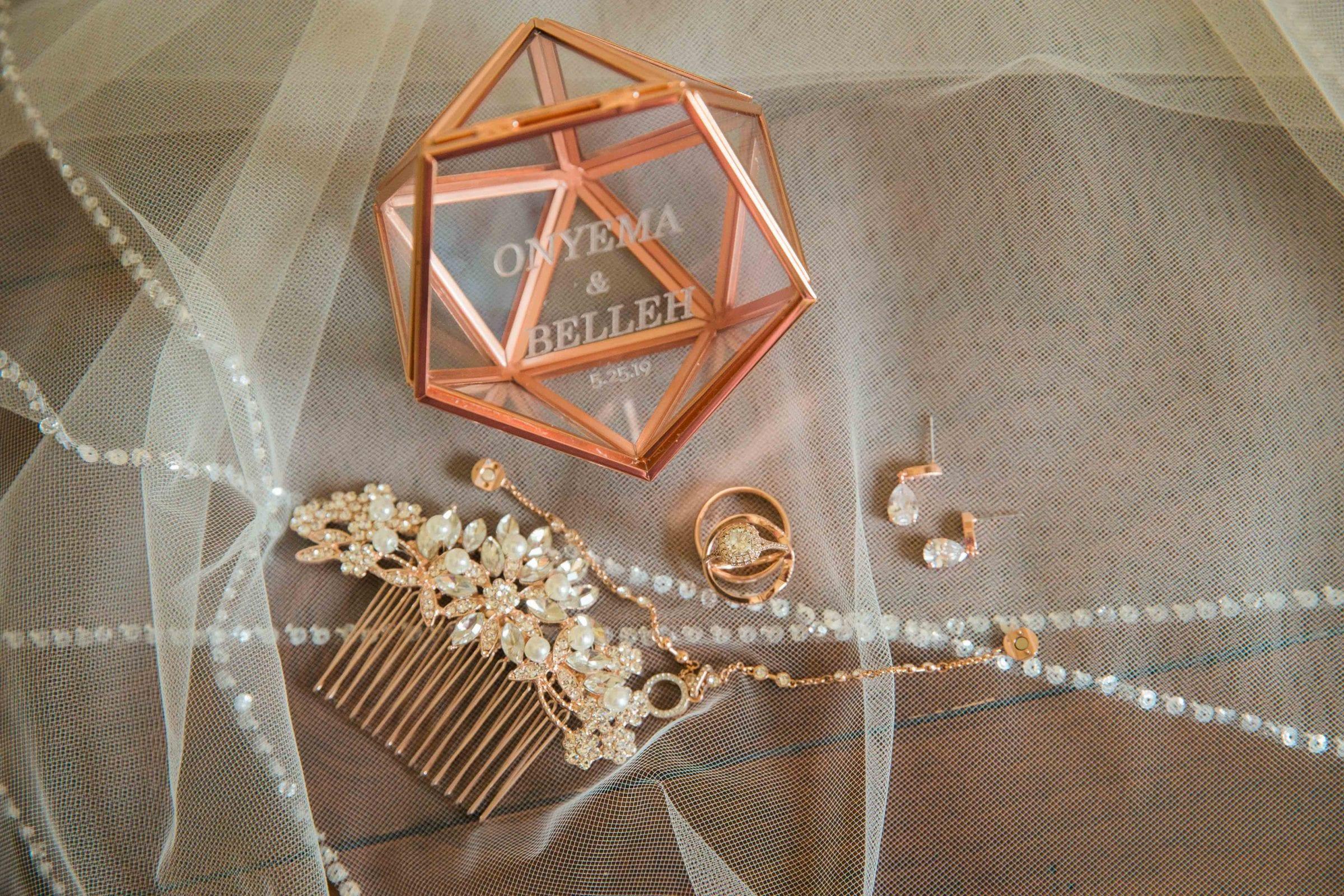 Onyema wedding La Cantera ring box details