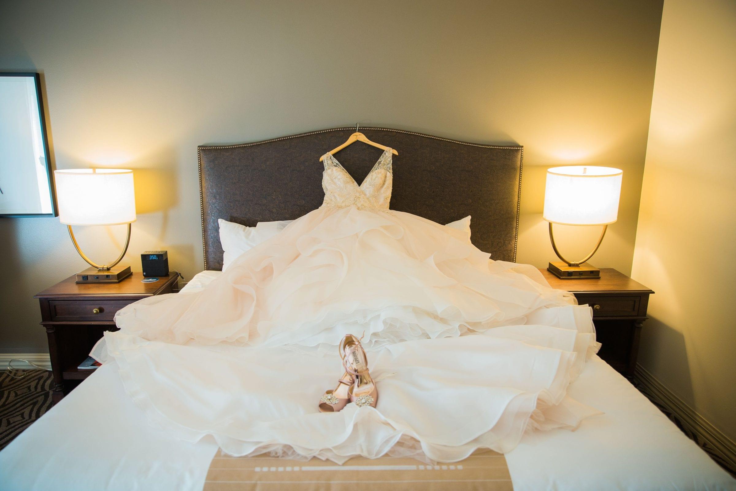 Onyema wedding La Cantera dress details