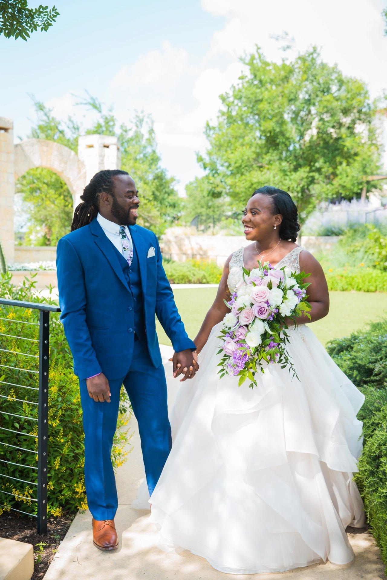 Onyema wedding La Cantera first look excitement