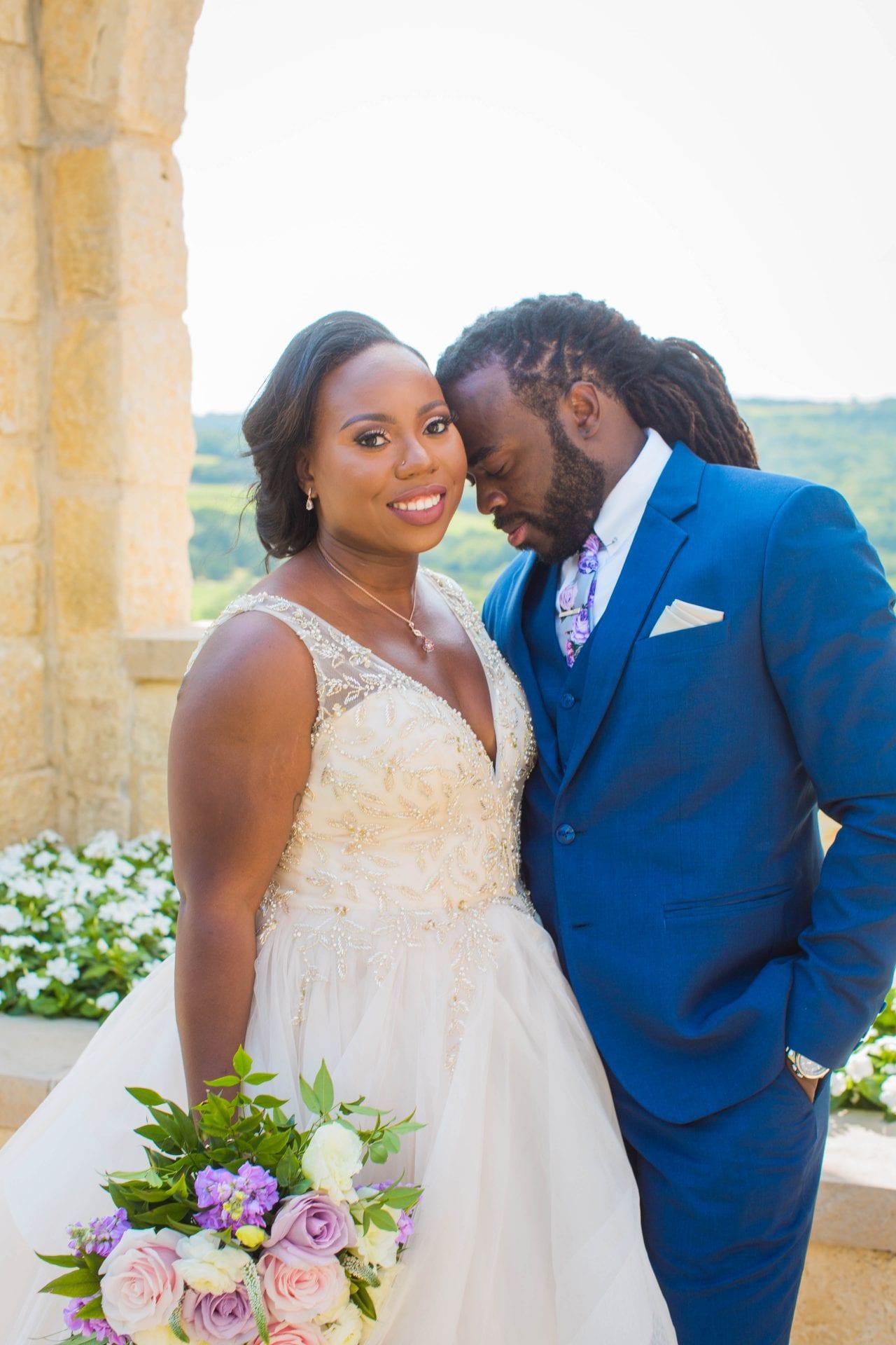 Onyema wedding La Cantera bride looking couple photo
