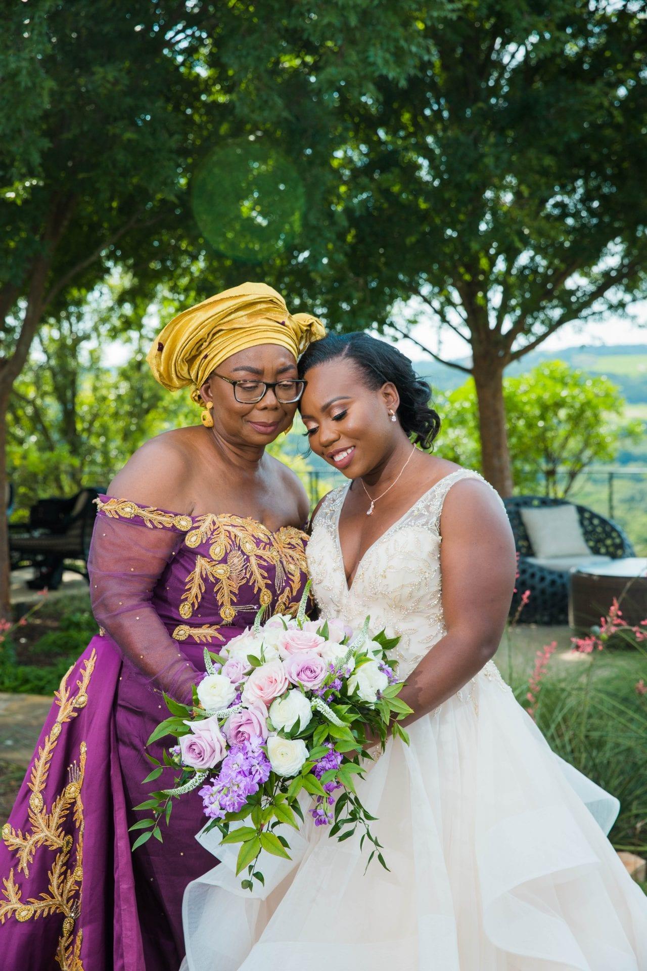 Onyema wedding La Cantera fmom and daughter