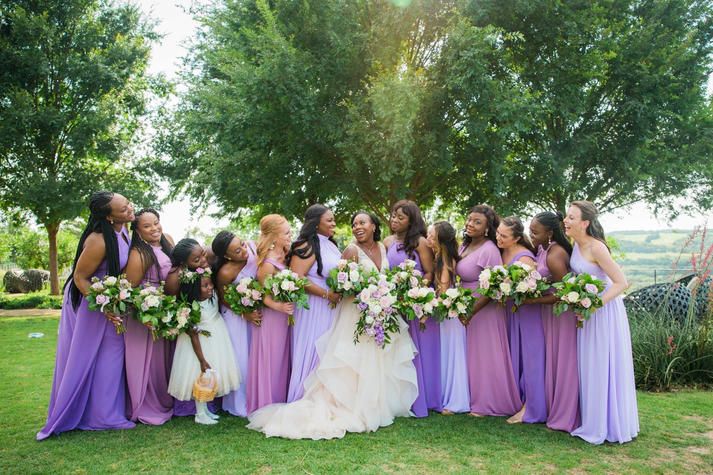 Onyema wedding La Cantera bridesmaids
