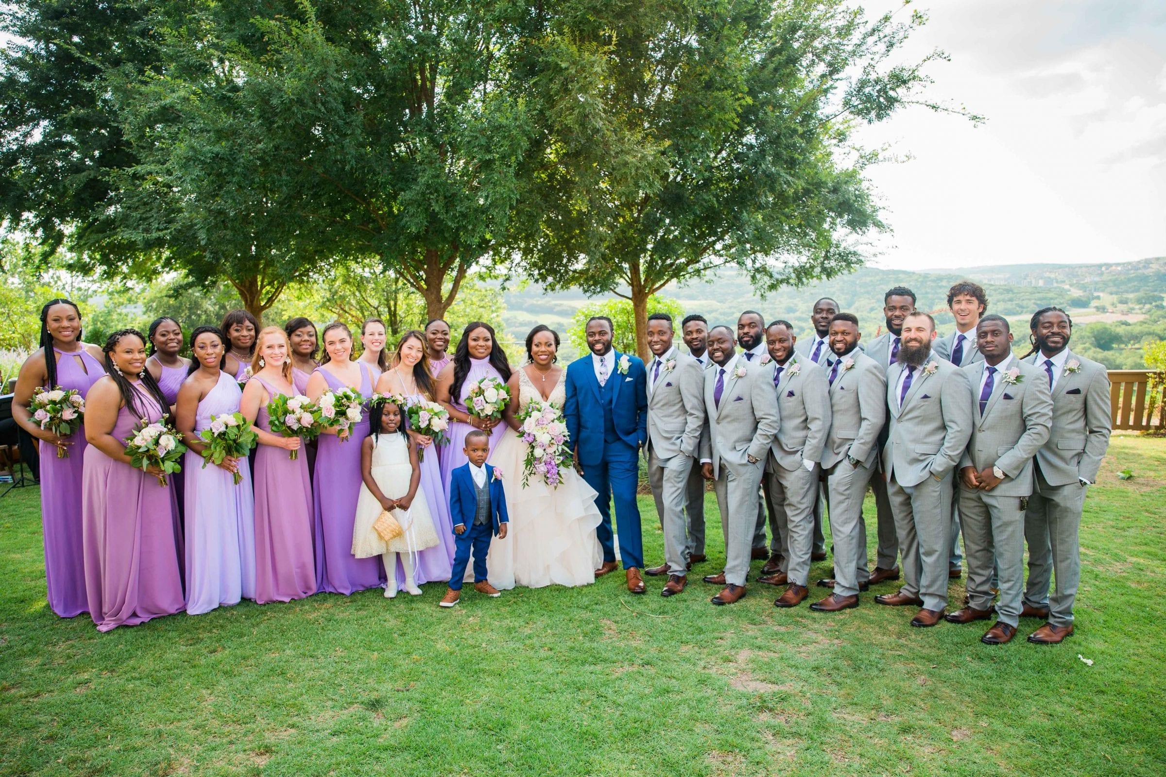 Onyema wedding La Cantera bridal party