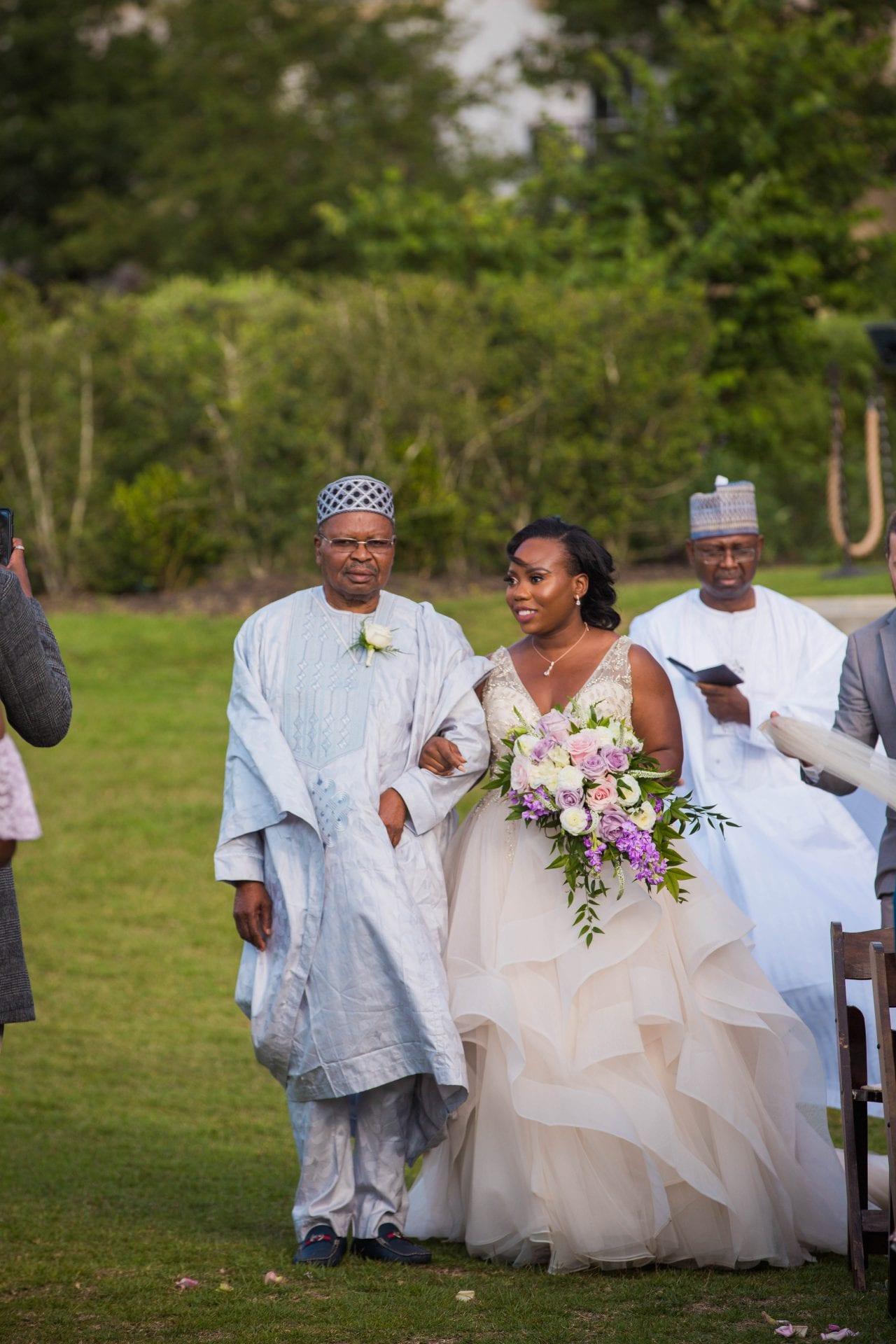 Onyema wedding La Cantera the walk down the aisle