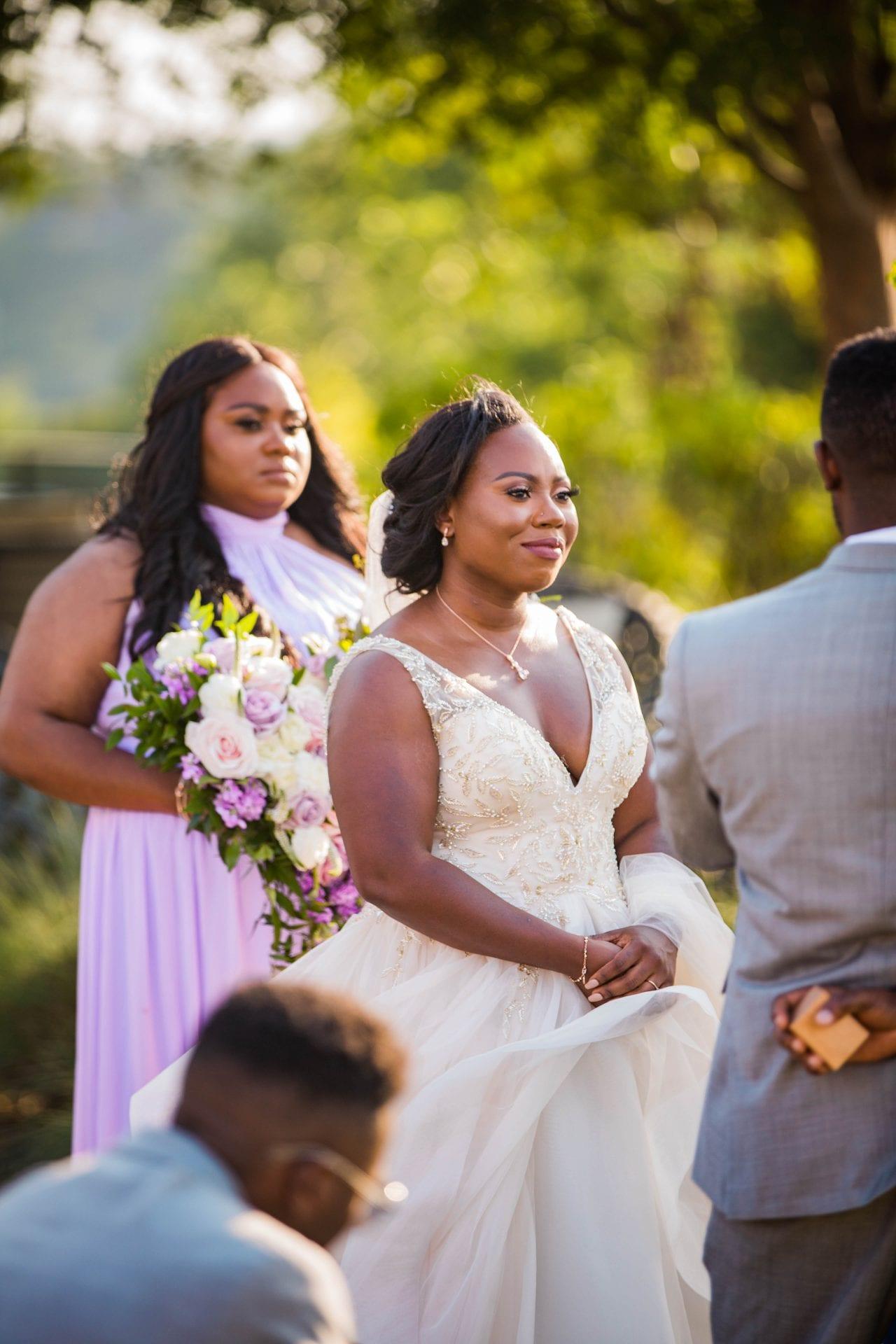 Onyema wedding La Cantera brides vows her face