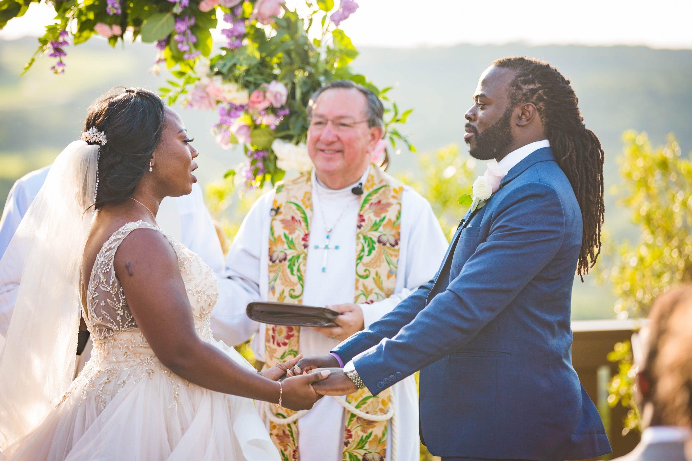 Onyema wedding La Cantera vows