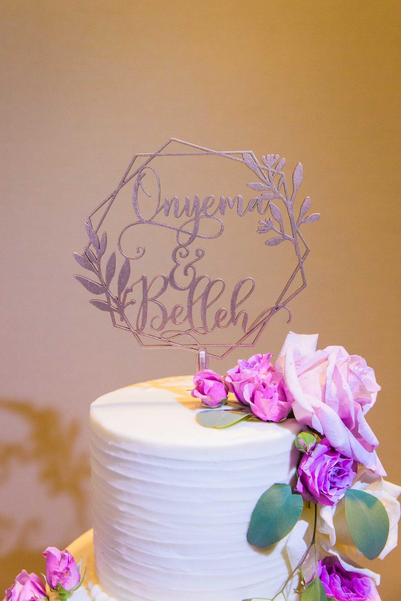 Onyema wedding La Cantera cake topper