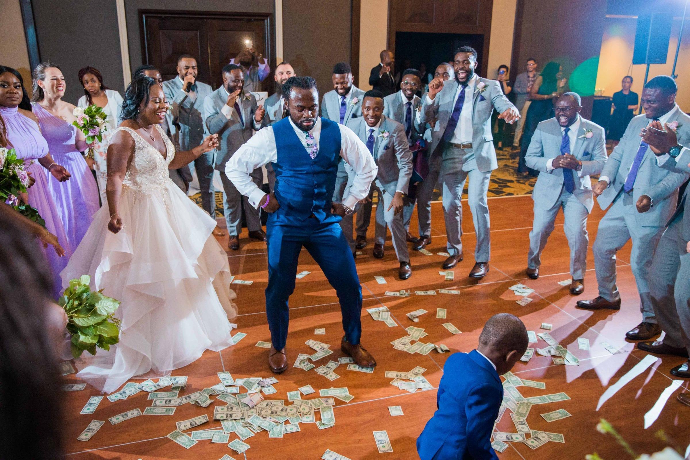 Onyema wedding La Cantera money dance