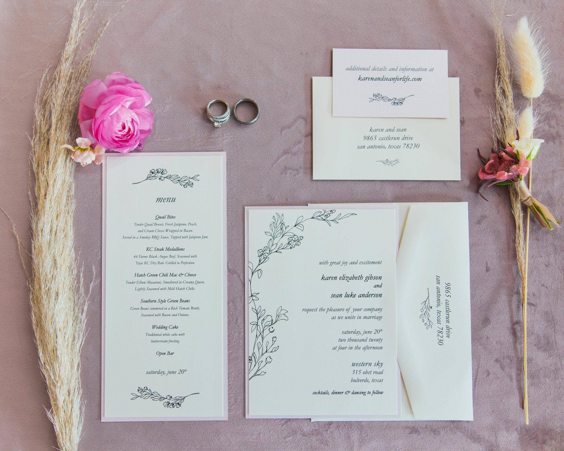 Western Sky Styled shoot invitation suite