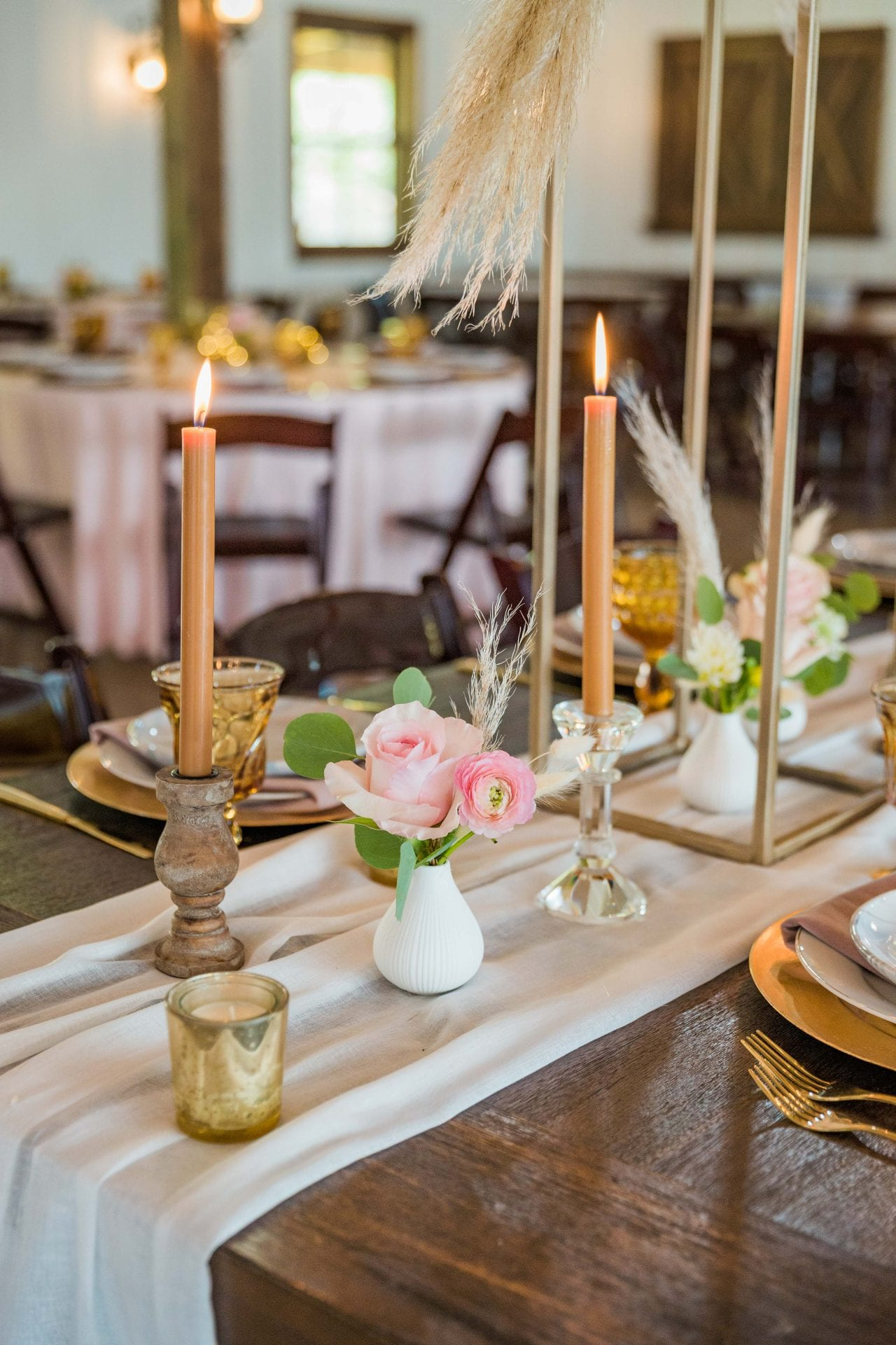 Western Sky Styled shoot candles