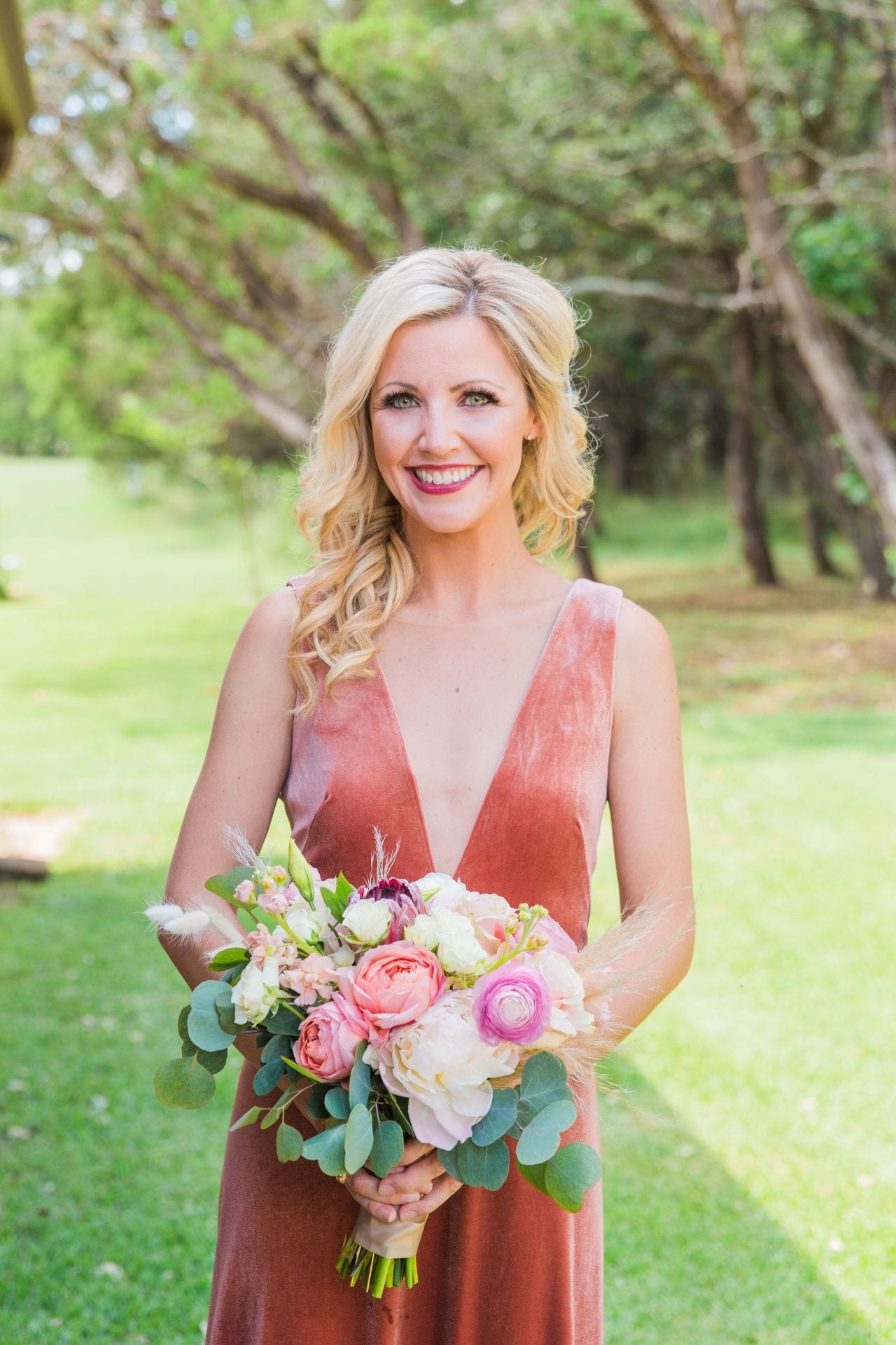 Western Sky Styled shoot bridesmaid rust