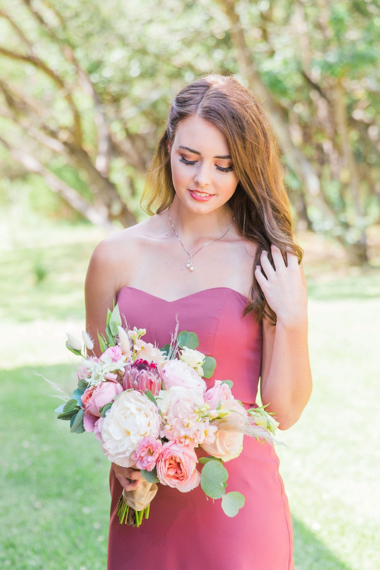 Western Sky Styled shoot bridesmaid pink