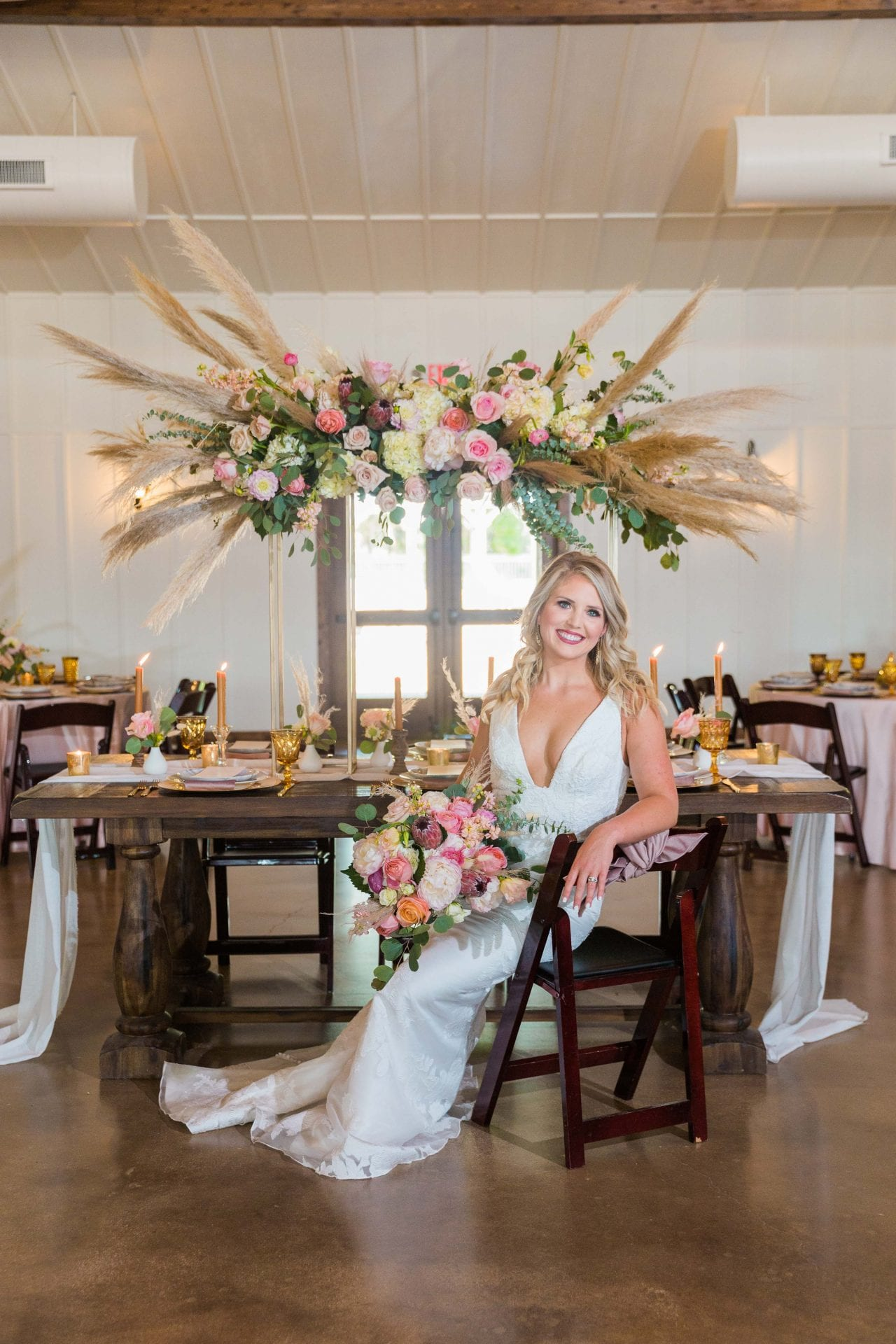 Western Sky Styled shoot bride inside