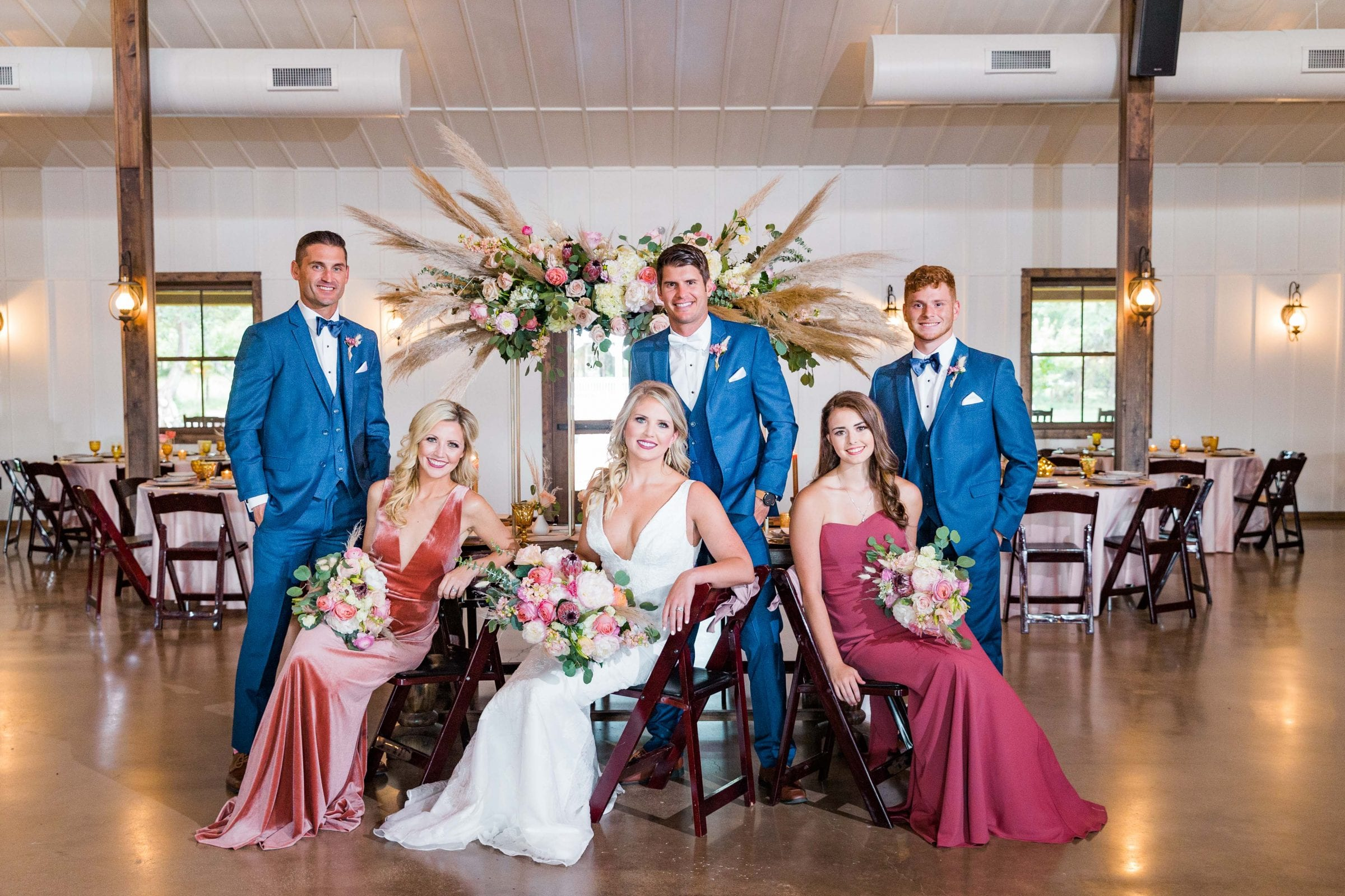 Western Sky Styled shoot bridal party