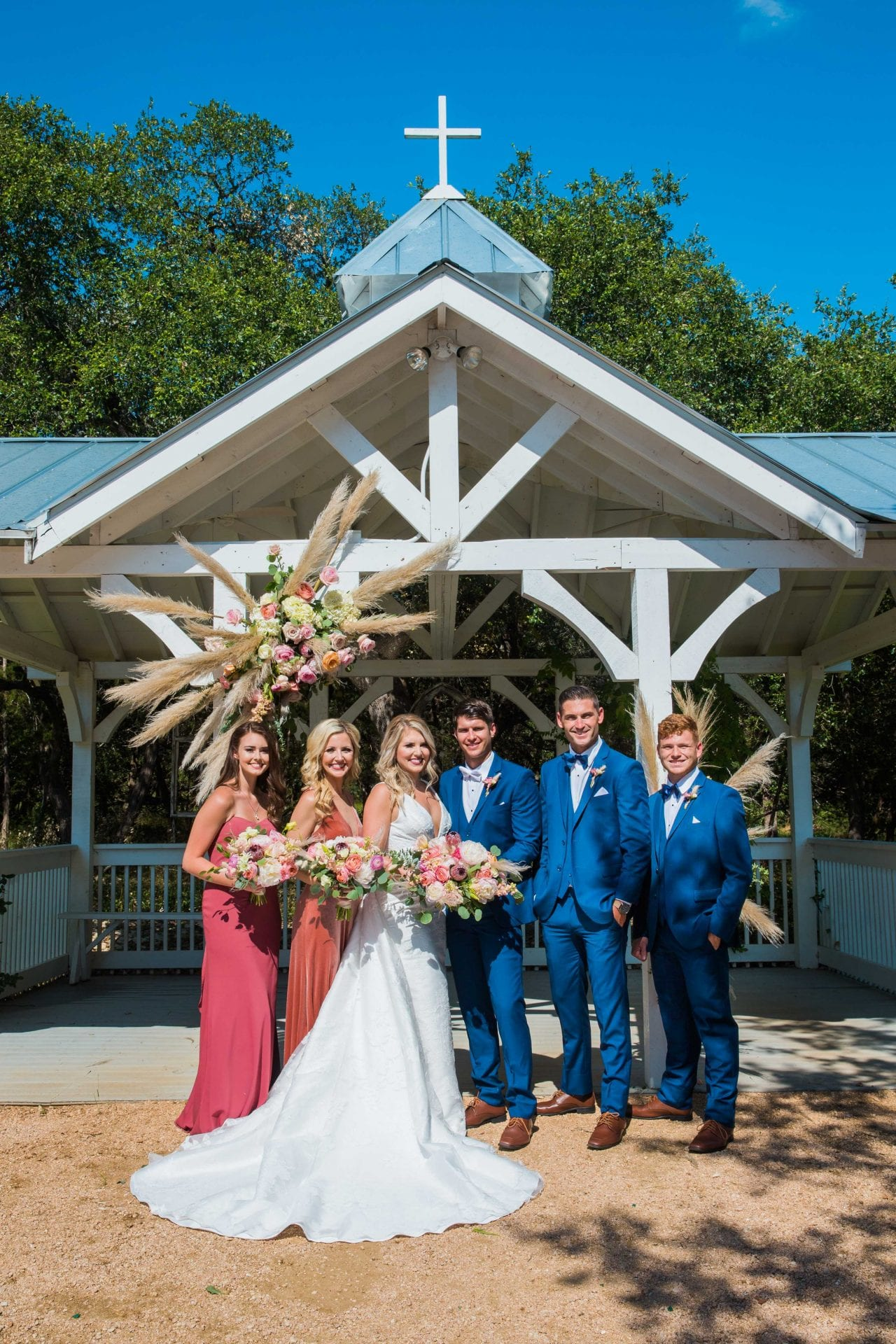 Western Sky Styled shoot bridal party at gazebo
