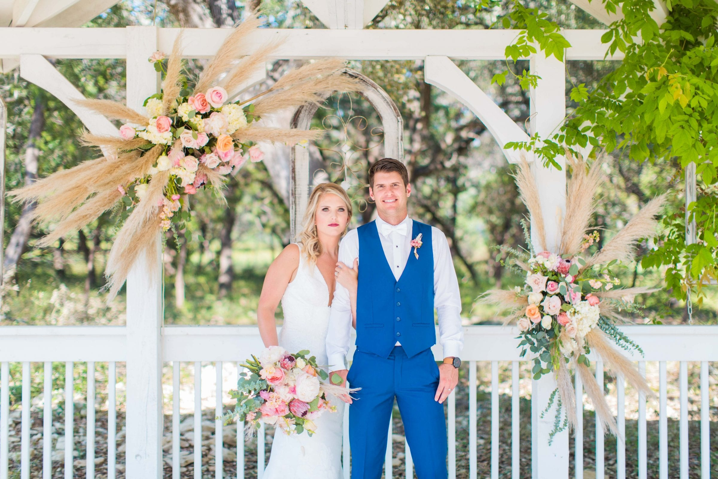 Western Sky Styled shoot couple in gazebo