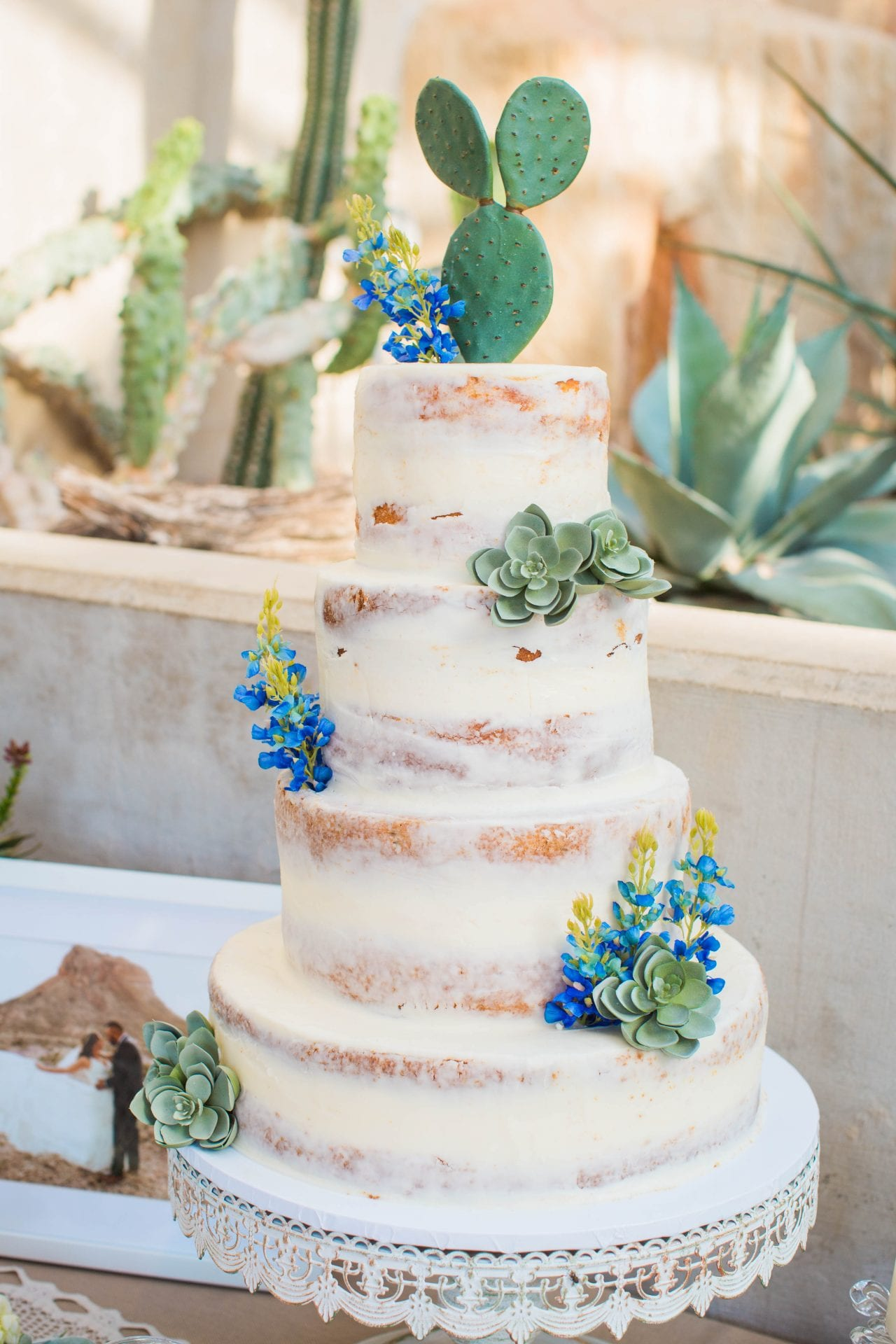 Courtney Amaya wedding San Antonio Botanical Garden cake