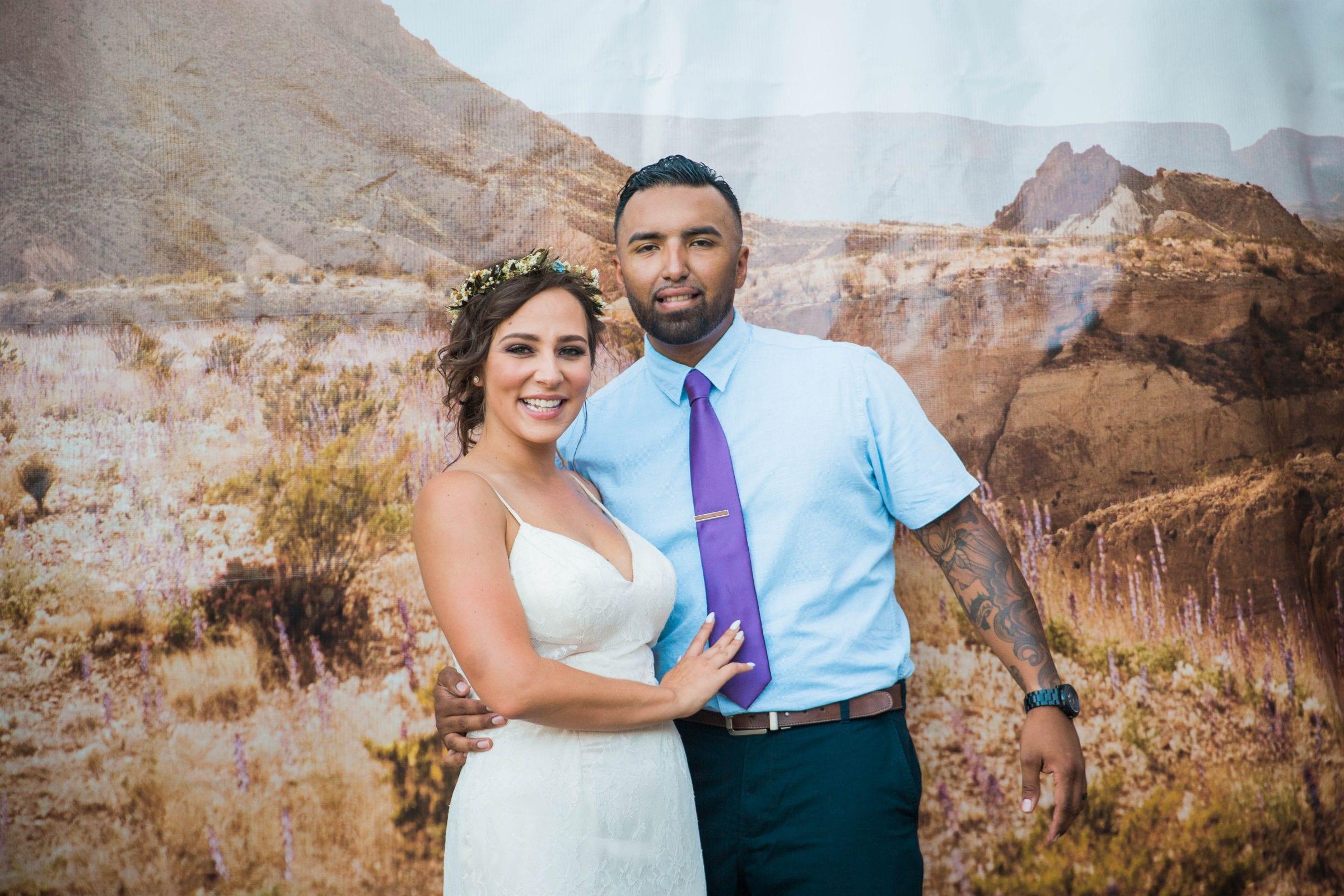 Courtney Amaya wedding San Antonio Botanical Garden photobooth