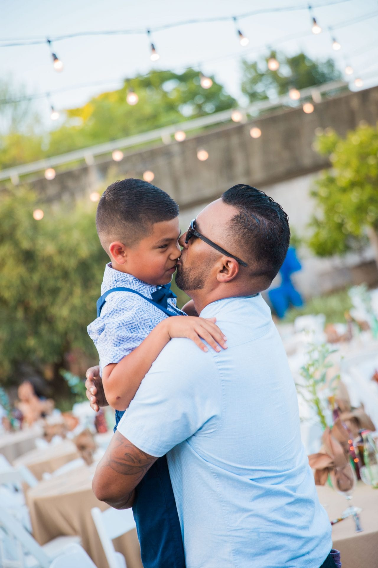 Courtney Amaya wedding San Antonio Botanical Garden groom and son