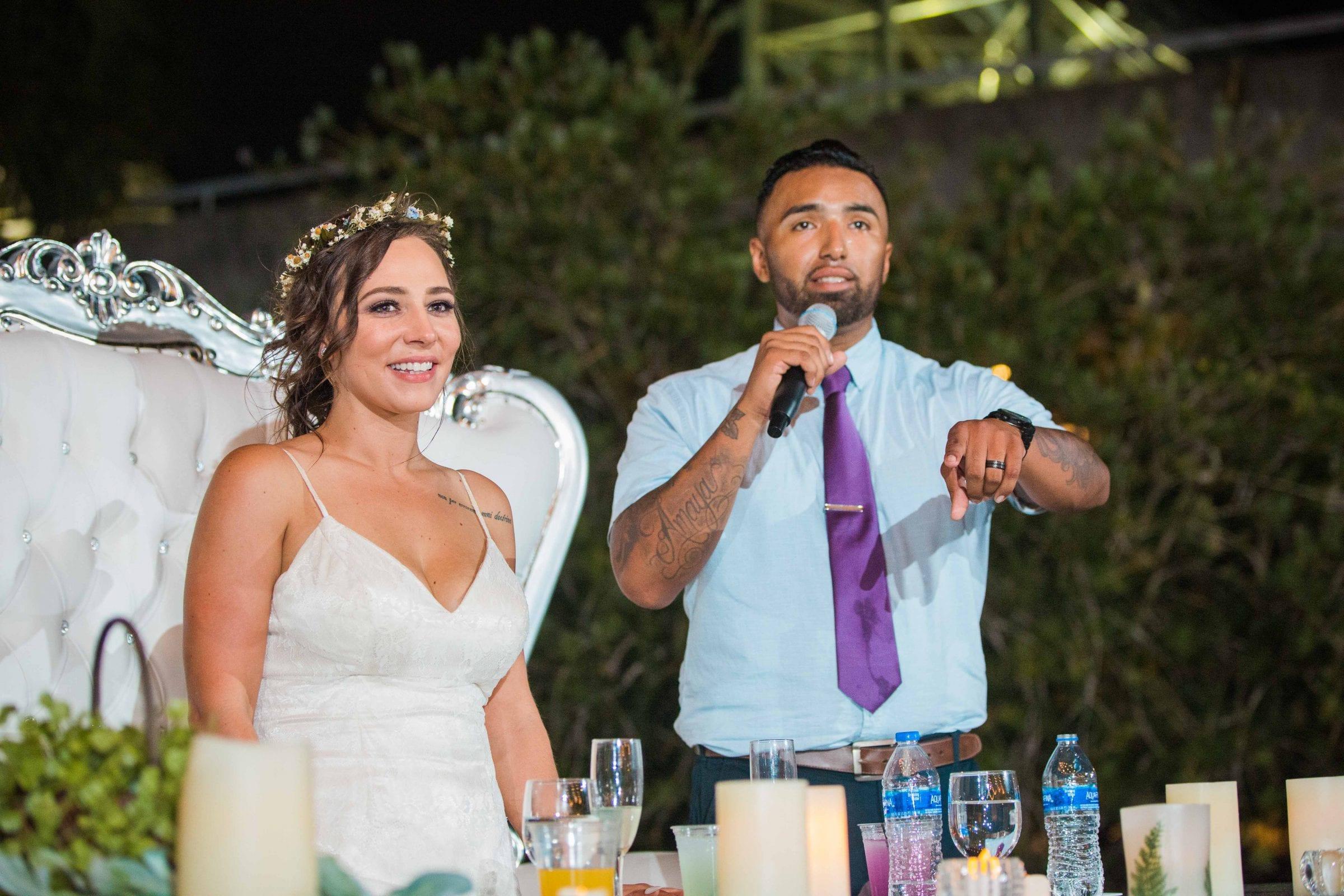 Courtney Amaya wedding San Antonio Botanical Garden toasts