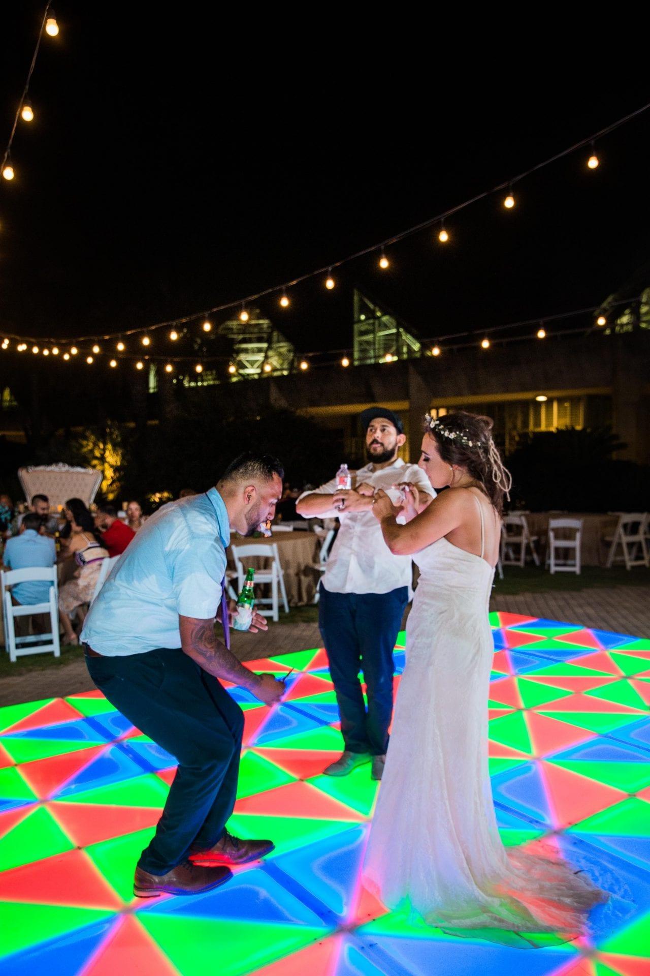 Courtney Amaya wedding San Antonio Botanical Garden fun dancing