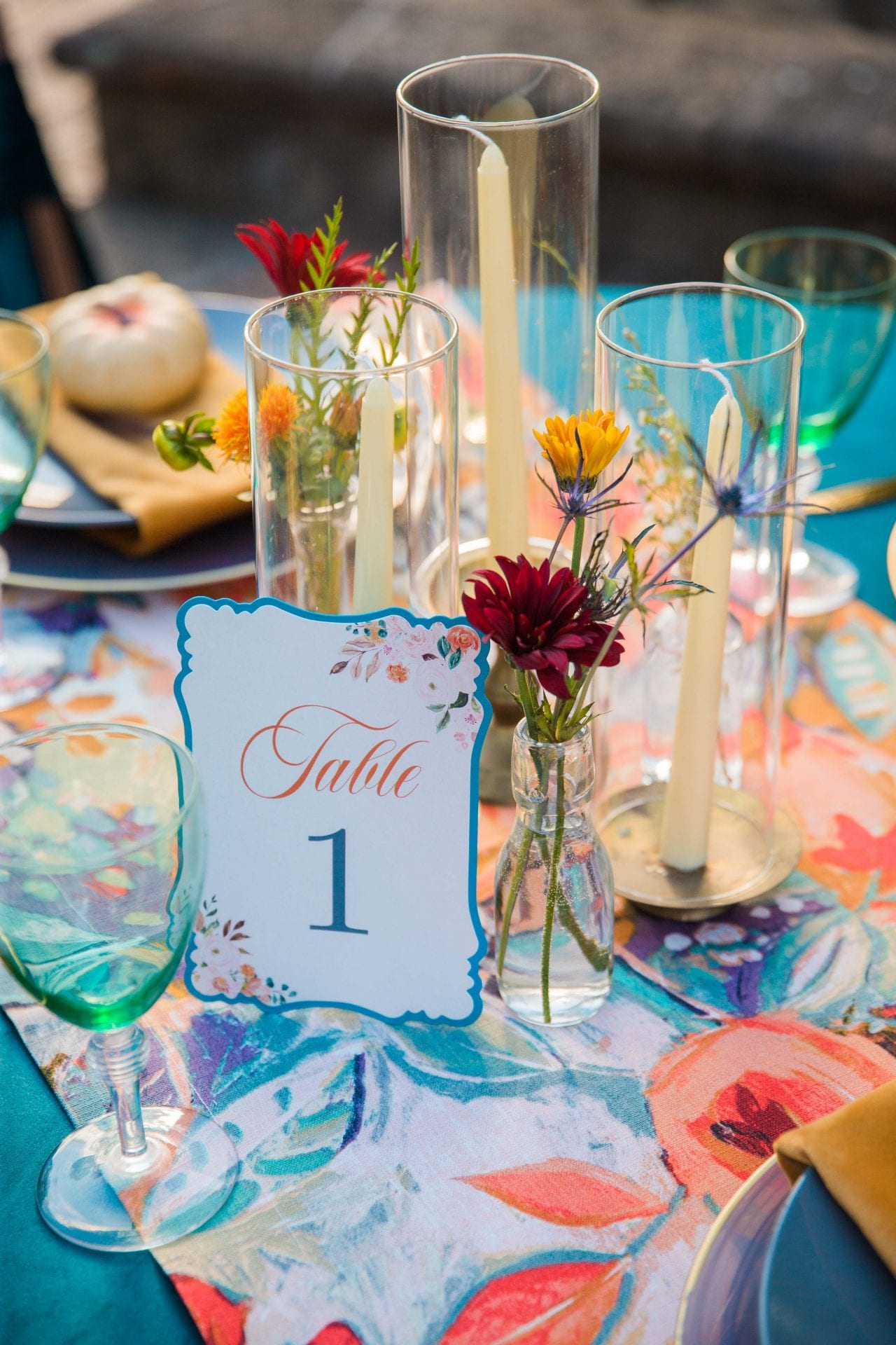 Fall styled shoot at the McNay art museum table cards