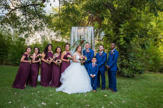 Ashley and Andy wedding Lambermont the bridal party
