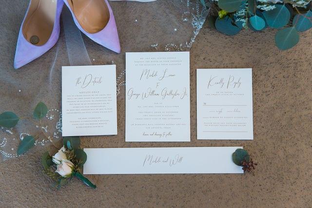 Michele's wedding at La Cantera invitation