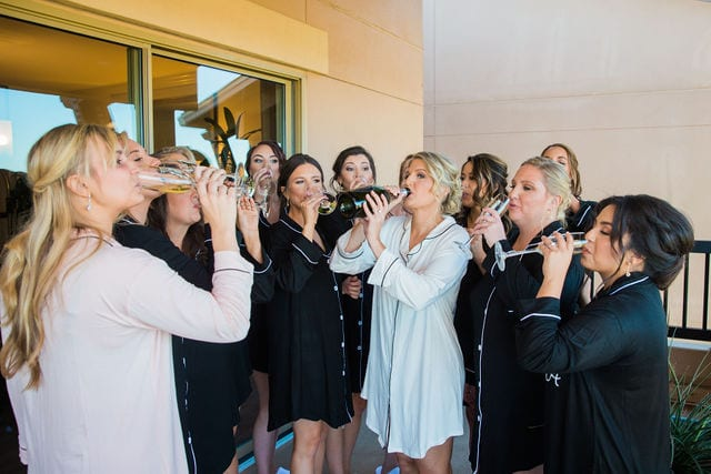 Michele's wedding at La Cantera the ladies doing toasts