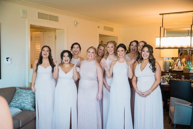 Michele's wedding at La Cantera the ladies first look