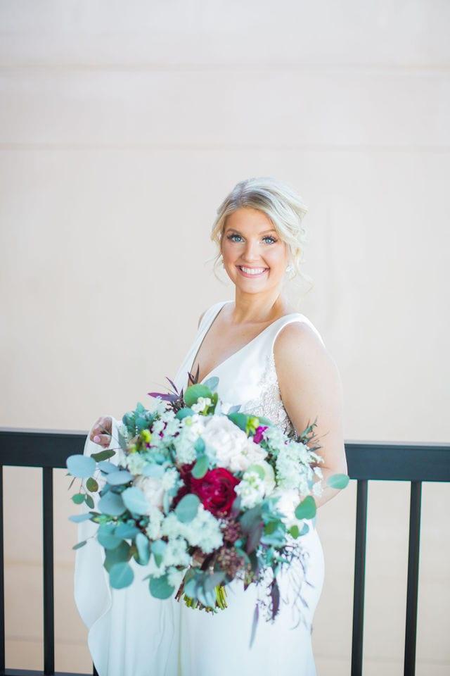 Michele's wedding at La Cantera bridal on the porch