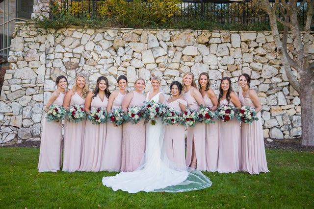 Michele's wedding at La Cantera bridesmaids